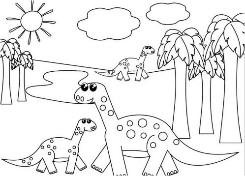 Dinosaur Bones Printable Coloring Pages Game