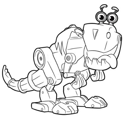 Robot Dinosaur 2 Coloring Page Game