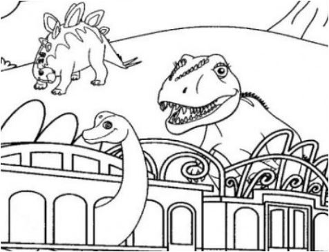 Dinosaur Train 4 Coloring Page Game