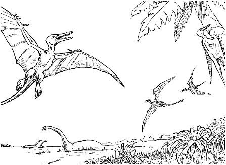 Rhamphorhynchus From Dinosaurs Coloring Page Game