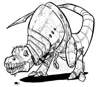 Robot Trex Coloring Page Game