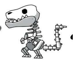Fossil Dinosaur Coloring Page Game