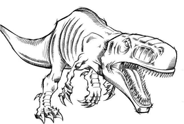Disegno Tyrannosaurus Rex Dinosaur Coloring Page Game
