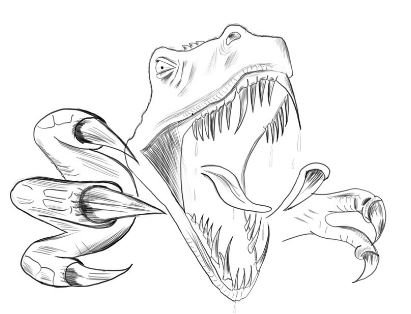 T rex Head Coloring Page Game
