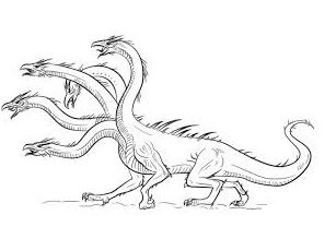 Dinosaurs Have Many Heads Coloring Page Game