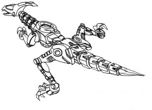Dino Robot 2 Coloring Page Game