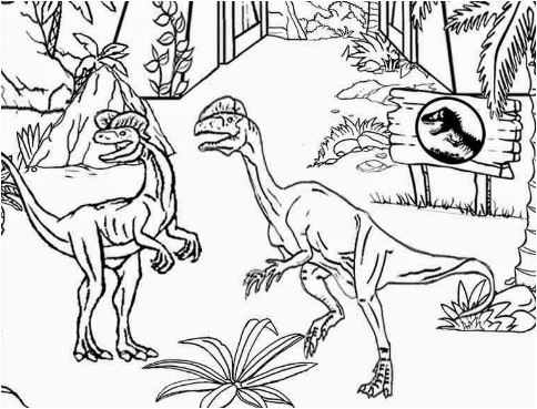 Jurassic World Coloring Page Game