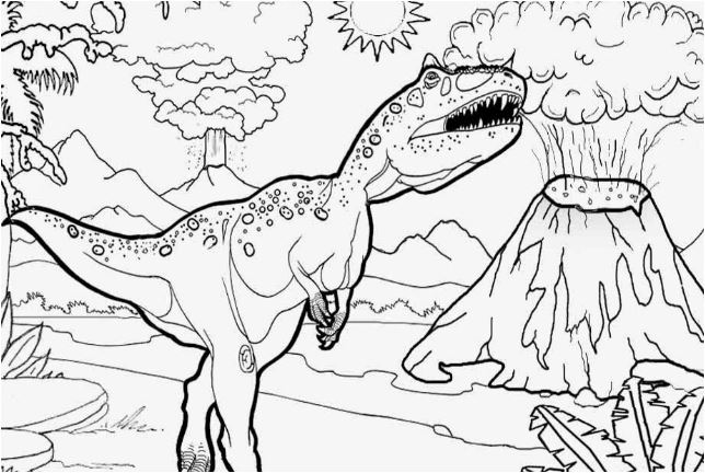 Dinosaurs and Volcanoes Coloring Page. Game