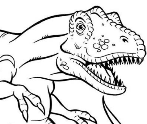 Terrifying Dinosaurus T Rex Coloring Page Game