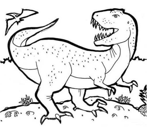T Is For T Rex Coloring Page