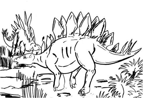 Stegosaurus Coloring Page Game