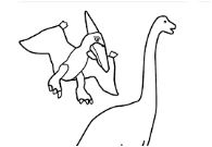 Pterodactyl And Brachiosaurus Coloring Page