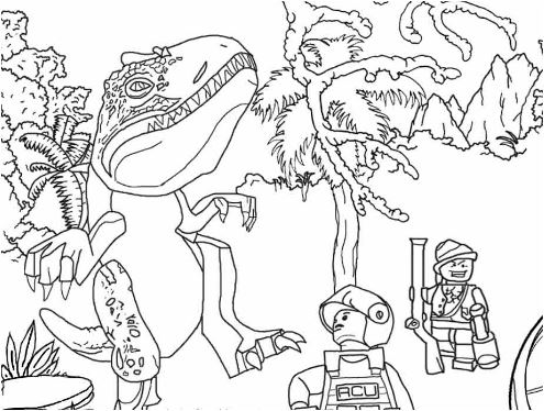 Jurassic Park 5 Coloring Page Game