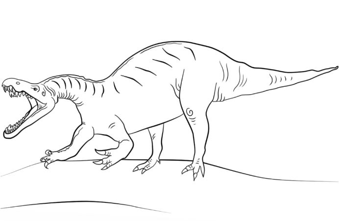 Jurassic World Suchomimus Coloring Page Game