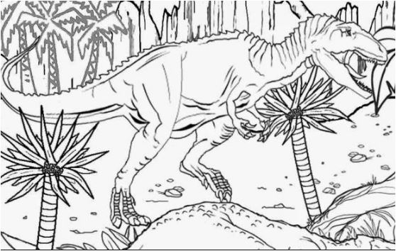 Dinosaur Landscape Coloring Page Game