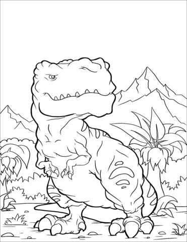 Tyrannosaurus 2 Coloring Page Game