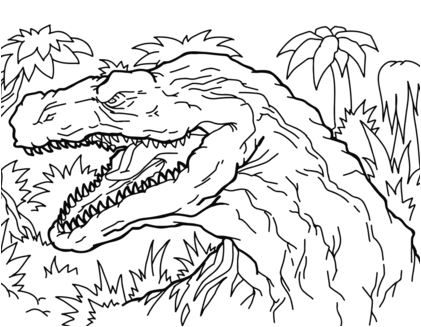 Afrovenator Coloring Page Game
