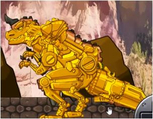 Dino Robot Tyranno Red Plus Game