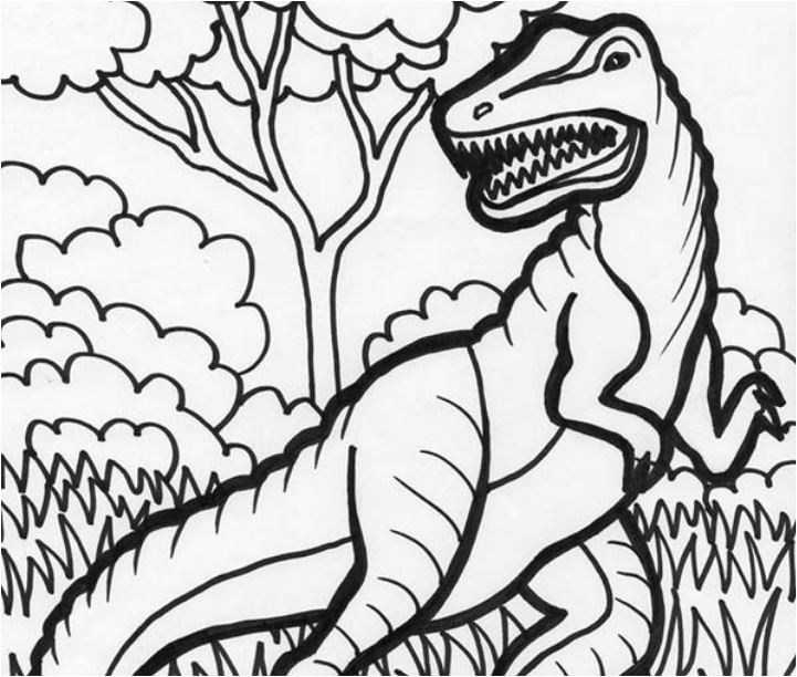 Hideous T Rex Coloring Page Game