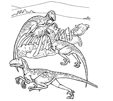 Deinonychus Cretaceous Period Dino Coloring Page Game