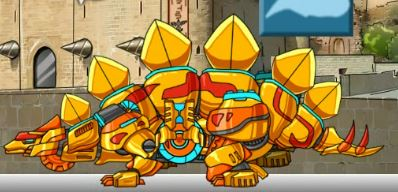 Combine Stego Gold Dino Robot Plus Game