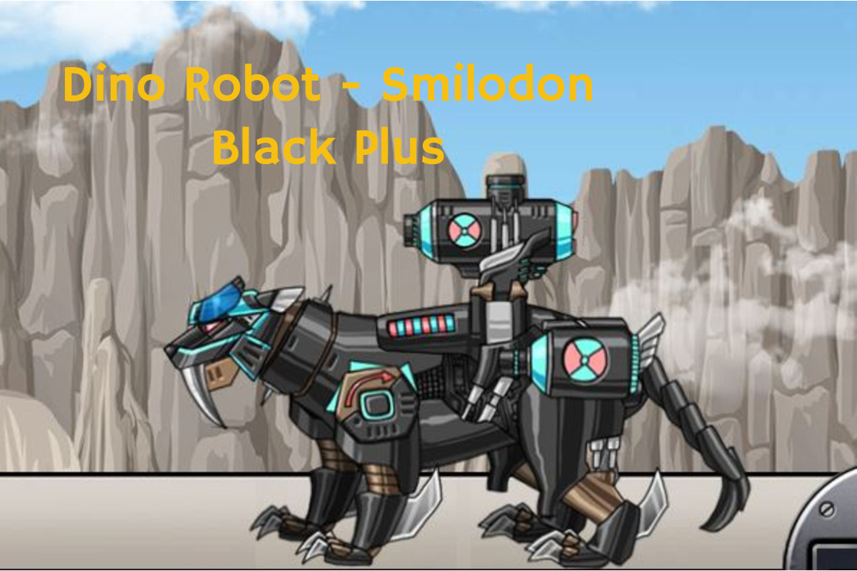 Dino Robot Smilodon Black Plus Game