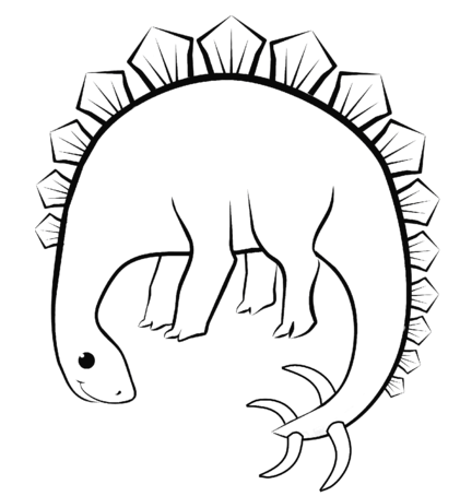 Stegosaurus Dino Coloring Page Game