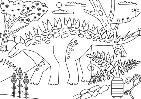Chungkingosaurus Coloring Page Game