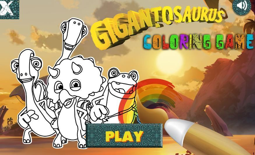 Gigantosaurus Coloring Game Game