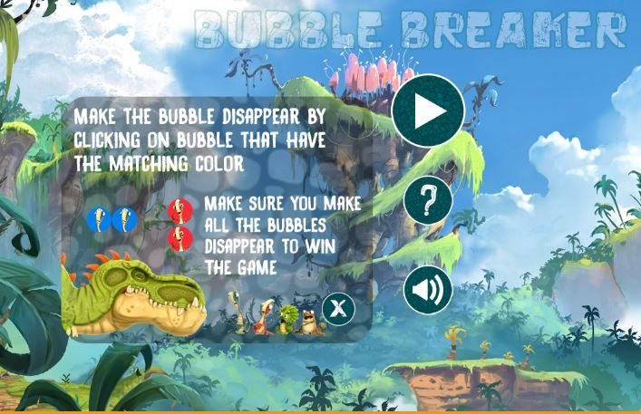Gigantosaurus Bubble Breaker Game