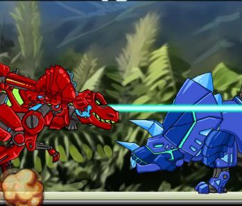 Dino Robot Battle Field Game