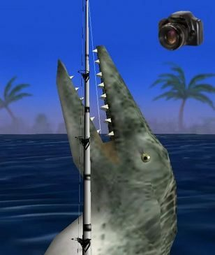 Dinosaur Fishing Game