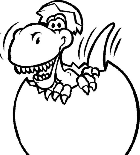 Cute Dinosaur Easter Coloring Page Game