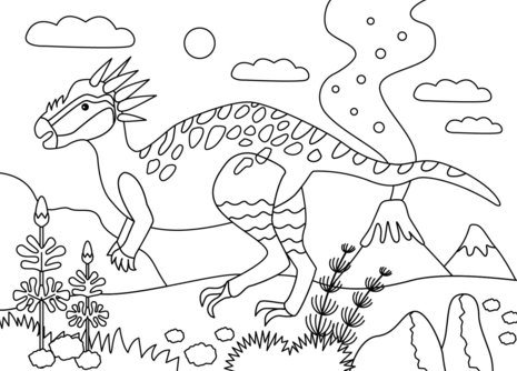 Stygimoloch Dinosaur Coloring Pages Game