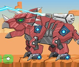 Toy War Robot Triceratops Game