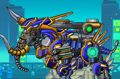 Robot Mammoth Power Up Game
