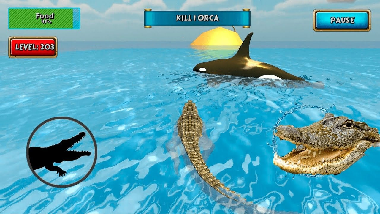 Crocodile Simulator Beach Hunt Game