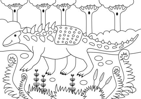 Polacanthus dinosaur coloring page