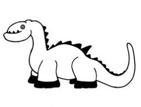 Baby Dinosaur 4 Coloring Page