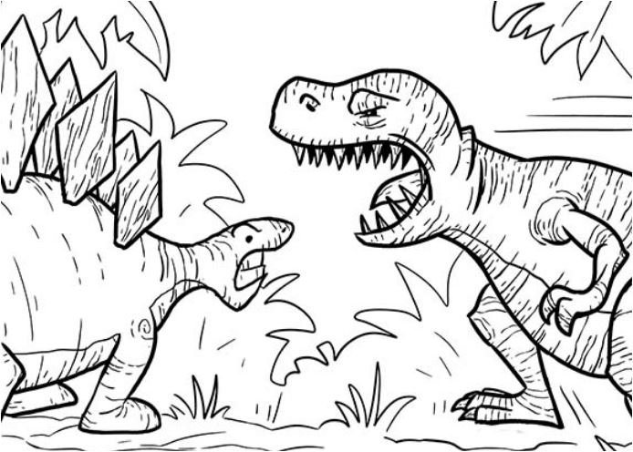 T Rex Had A Lot Of Sharp Teeth Coloring Page Game