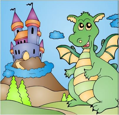 Dragon Castle Coloring Game