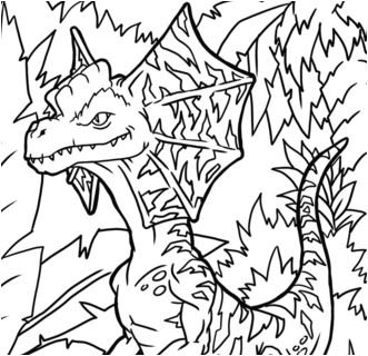 Dilophosaurus Coloring Page Game