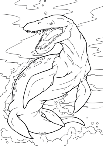 Kronosaurus Coloring Game