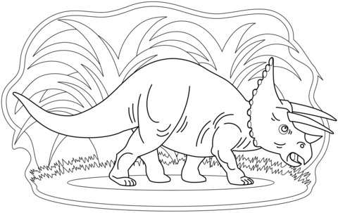 New Triceratops Coloring Page Game