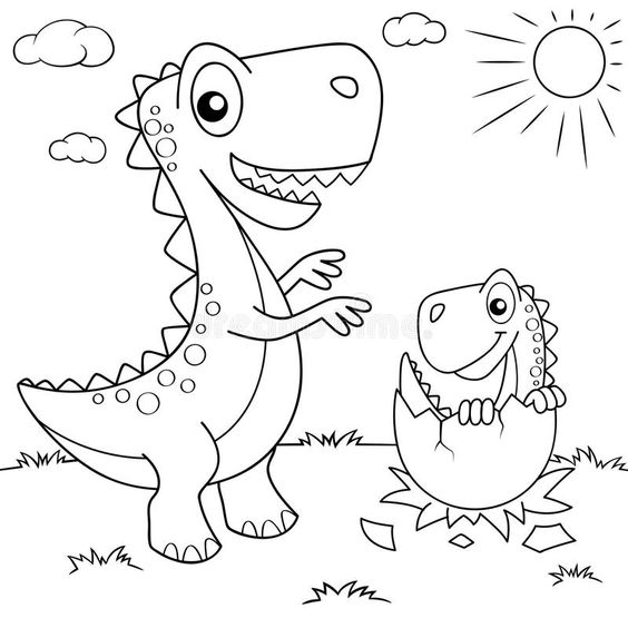 Baby Dinosaur Coloring In Egg Game