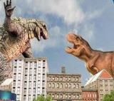 Monster Dinosaur Rampage City Attack Game