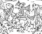 Cartoon Dinosaur Coloring Page Game