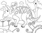 Torosaurus Coloring Page Game