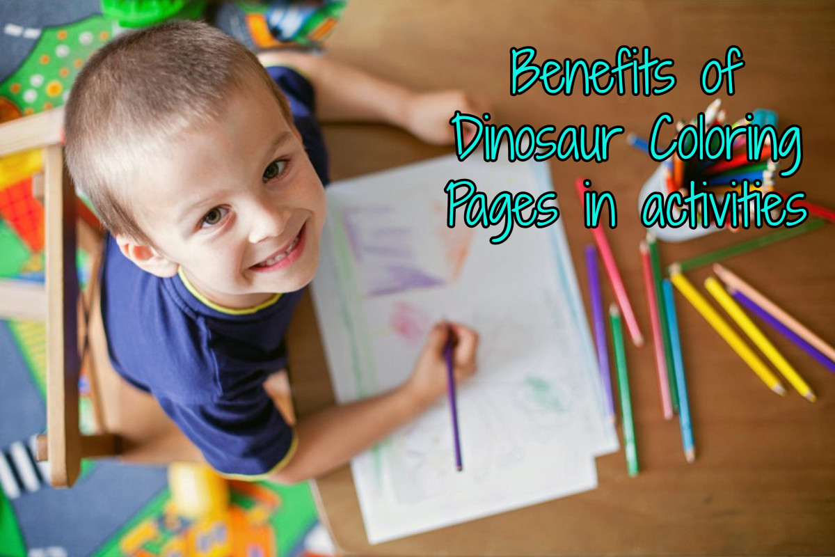 Benefits of dinosaur coloring pages in activities