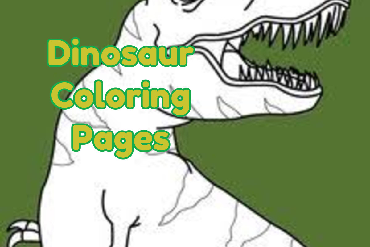 The Lesson About Painting Skill That The Kids Receive By Dinosaur Coloring Pages